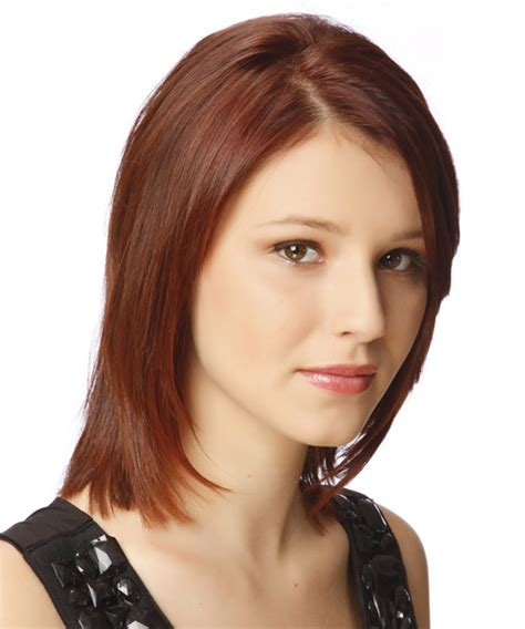 auburn medium hairstyles medium straight formal hairstyle dark auburn red hair color