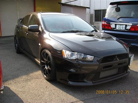 silver mitsubishi lancer black rims black x with advan rz rims mitsubishi lancer register forum