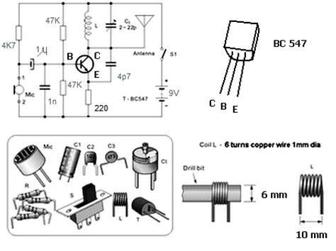 fm transmitter using 1 transistor techno science simple fm transmitter with bc549