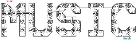 printable music maze mazes to print word mazes