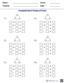 fact family worksheets fact family worksheets for practice