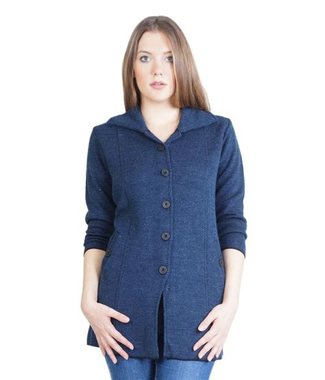 Top Five Essential Cardigans by Buy Montrex Navy Woollen Buttoned Cardigans At Best
