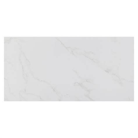 carrara polished porcelain tile floor decor