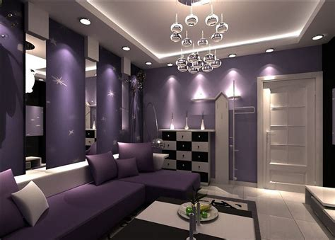 Lila Zimmer Ideen by Purple Walls Purple Walls And Purple Sofa For Living