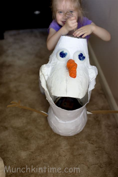 Easy And Olaf Tutorial How To Make Olaf Pinata Easy Diy Tutorial
