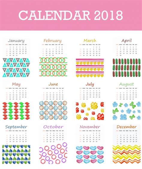 calendario 2018 para imprimir anual mensual escolar