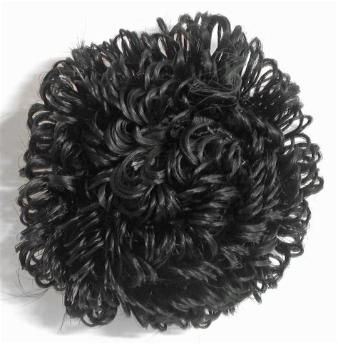 Synthetic Fiber Hair Bun Black designer black hair bun synthetic fiber dia 6 inches