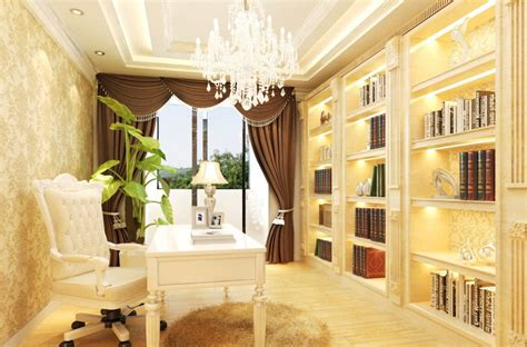 neoclassical french study room interior design house