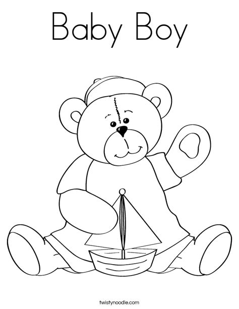 coloring page of baby boy babyboy free coloring pages