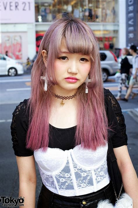 clothing style with short hair cut japan harajuku hair style