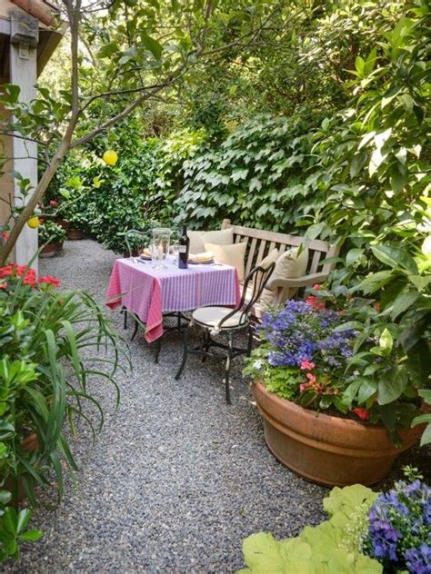 pea gravel backyard pea gravel landscape design a small intimate dining area