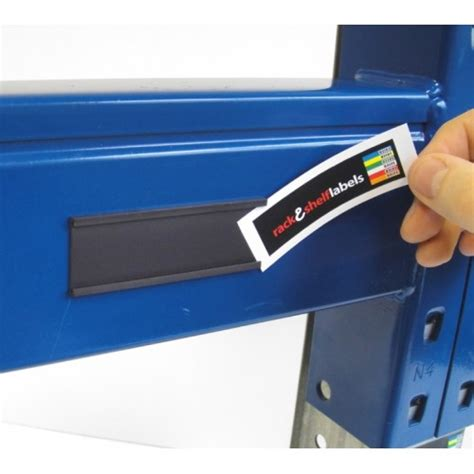 magnetic label holders 30mm x 80mm rack shelf labels
