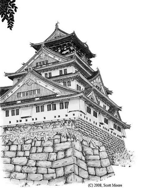 japanese castle coloring page japanese castle urban sketch pinterest coloring