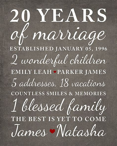 20th Wedding Anniversary Ideas Husband by Best 25 20 Year Anniversary Ideas On 20th
