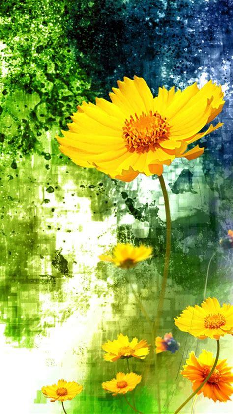 Iphone Wallpaper Yellow Flower | yellow flowers iphone 5 wallpaper hd