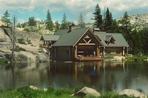 log cabin wedding on a lake