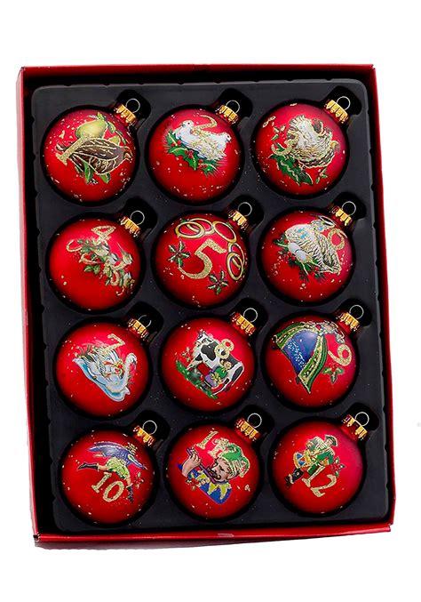 twelve days of christmas ball ornament twelve days of glass ornament set