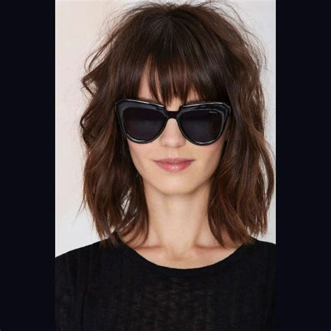 lob with bangs pictures lob haircut with bangs google search hair pinterest