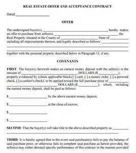 real estate contract template sle real estate purchase agreement 8 exles format