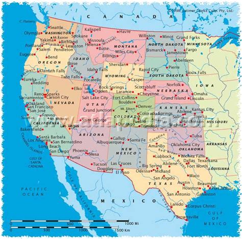 west coast of usa map west coast usa