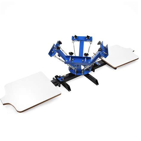 4 color press silk screen printing machine 4 color 2 station screen