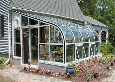 solarium room curved eave aluminum greenhouse glass house llc