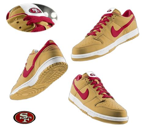49ers shoes mens nike san francisco 49ers dunk shoes yellow id