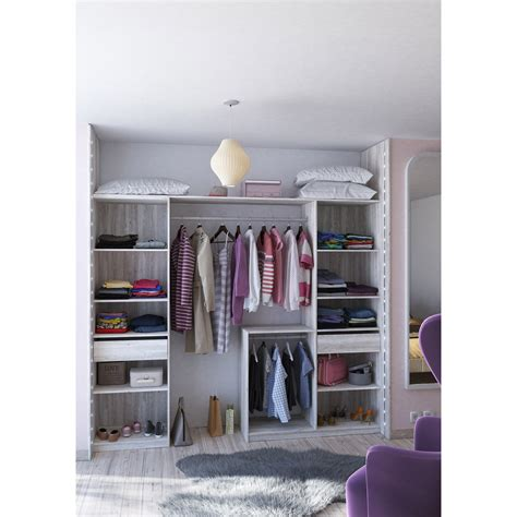 dressing spaceo home gris dressing leroy merlin iziva
