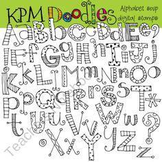 free doodle font font alphabet letter lettering script vector