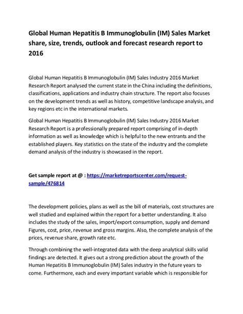 research reports sles global human hepatitis b immunoglobulin im sales market