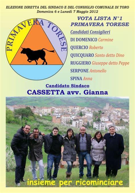 cassetta per apicoltori toro web elezioni 2012 presentazione ufficiale lista