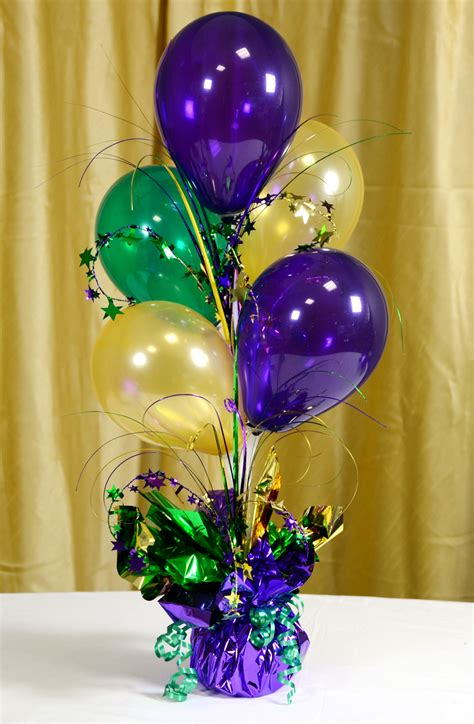 balloon centerpieces mardi gras balloon decorations favors ideas