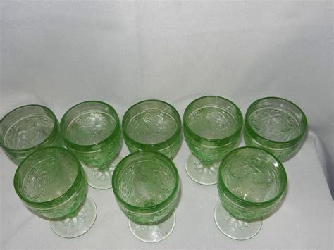 Sandwich Glass Ls by Vintage Tiara Indiana Sandwich Glass Chantilly Green Water