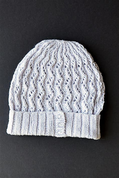zig zag knit hat pattern knitting patterns galore zig zag lace hat