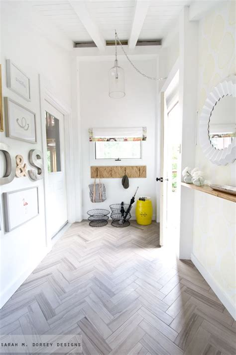 Stunning! Casual, but stunning faux wood porcelain tile