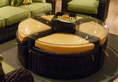 coffee table with ottomans under ottoman storage coffee table design images photos pictures