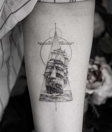 small nautical tattoos small gray ship inkstylemag