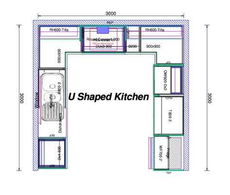kitchen design and layout u shaped kitchen layout hac0