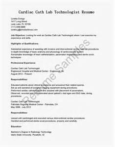 resume sles cardiac cath lab technologist resume sle professional cardiovascular technologist templates to
