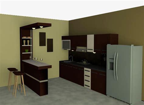 Interior Elegan Minimalistkicthen Set Dapur Exclusife kitchen single line dan mini bar dengan suasana exclusive