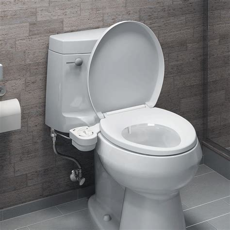 bidet in use brondell freshspa easy bidet toilet attachment commode aids