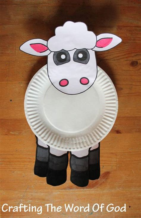 Paper Plate Sheep Craft - teachings 171 crafting the word of god