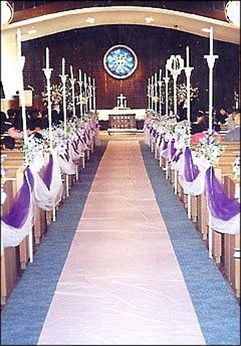 Wedding Aisle With Pictures Of Memories by Arcadia United Church Of Weddings