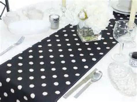 Sale Black And White Polka Dot Table Runner Great For Black And White Polka Dot Table Runner