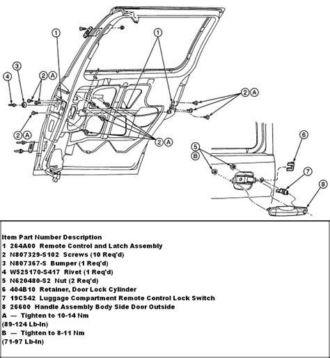latch diagram door handle parts diagram within diagram wiring and engine