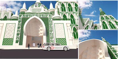 foto desain masjid ini dia foto megahnya desain pembangunan masjid agung