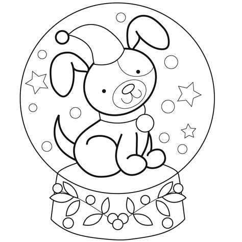 snow globe coloring pages az coloring pages