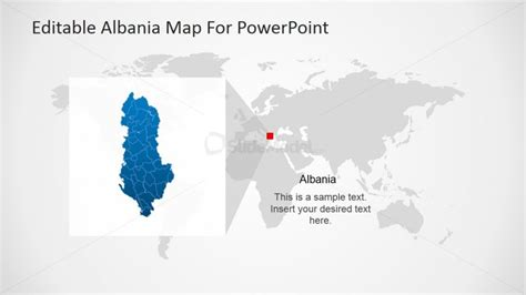 Powerpoint Template For Albanian Geography Slidemodel Geography Powerpoint Templates