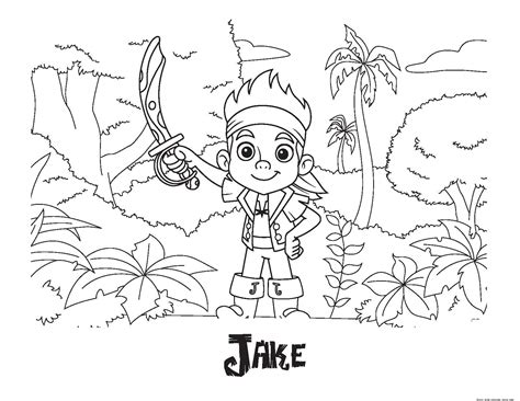 Printable Coloring Pages Of Jake And The Neverland Jake Neverland Coloring Pages