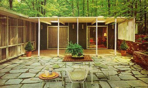 mid century patio 1960s era patio mid century exteriors